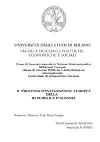 Il processo d'integrazione europea albanese