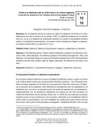 Fichte y la dialéctica del Yo entre Kant y Hegel (Crítica Hegeliana).