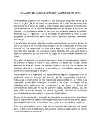 RELACION DE  LA INGENIERIA CIVIL CON LA GEOLOGIA