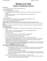 Business Law I and II Notes