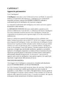 Riassunto capitoli 7-12-14 psicologia dello sviluppo