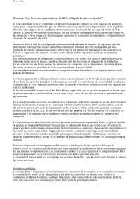 """""""Las elecciones guatemaltecas de 2015 - la llegada de la incertidumbre"""""""