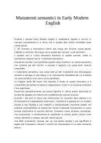 Mutamenti semantici in Early Modern English