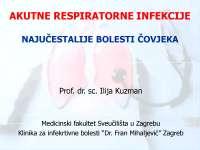 Respiratorne infekcije - dišni sustav