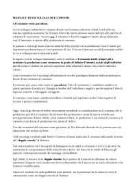 """Riassunto """"Manuale di Sociologia dei consumi"""" di Vanni Codeluppi"""