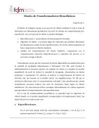 Diseño de Transformador Monofásico