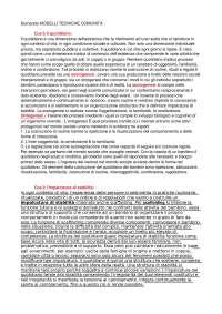 Modelli e tecniche di intervento nei Servizi Comunità - Appunti ESAME PALARETI