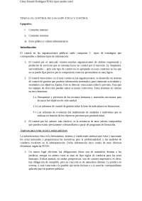 Tema 6: El control de las administraciones públicas, ética y control