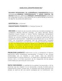 ANALISIS JURISPRUDENCIAL SENTENCIA 075 FAMILIA