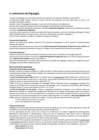 """La valutazione del linguaggio nel bambino (Capitolo 5. """"Valutazione psicologica dello sviluppo"""" Bonichini S.)"""