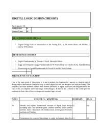 CLO Digital Logic Design