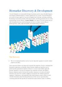an introduction for Biomarker Discovery