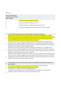 test diritto amministrativo