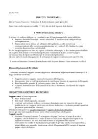 Sbobinature appunti Diritto tributario - prof. Fabio Marchetti (AFC LUISS)