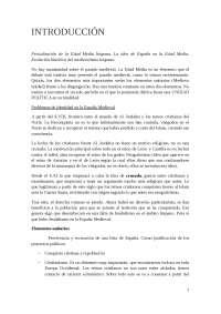 Tema 1 Historia de la España medieval