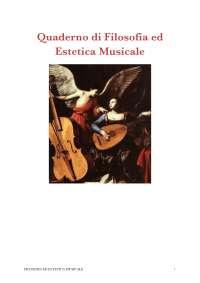 Quaderno di Filosofia ed Estetica Musicale (Alcuni miti tratti dalle Metamorfosi di Ovidio)