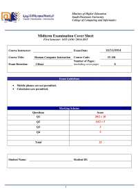 Fall 2014 Midterm Solution-HCI
