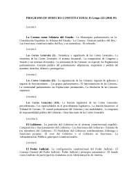 Programa Derecho Constitucional II