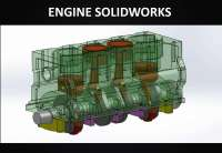 disegno tecnico di una testata auto e relativi pistoni