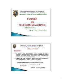 ANALISIS DE FOURIER Y RESULTADOS DE PROBLEMAS