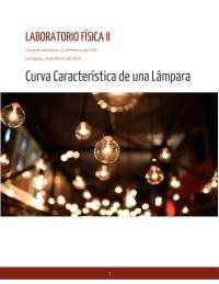 Curva Característica de una Lámpara