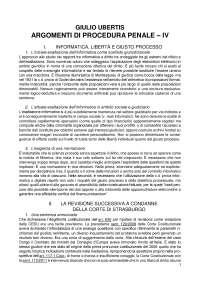 Argomenti di Procedura Penale vol. IV - G. Ubertis - 2016