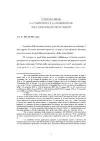 La competenza e la giurisdizione nell'espropriazione di crediti