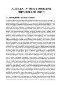 COMPLEX TV-Teoria e tecnica dello storytelling delle serie tv