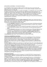 Elementi di Sociolinguistica - Linguistica generale