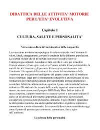 RIASSUNTO COMPLETO Libro: ''Didattica delle attività motorie in età evolutiva''. F. Casolo