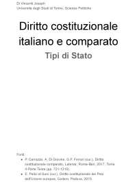 Diritto costituzionale italiano e comparato II