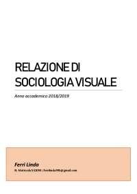 Relazione sociologia visuale