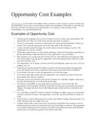 Opportunity Cost Examples.