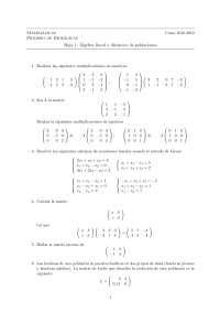 Ejercicios matemáticas primero biología