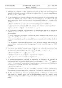 Ejercicios matemiaticas primero de biologia