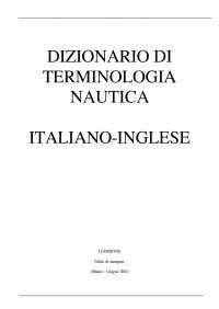 Dizionario Nautico per la navigazione
