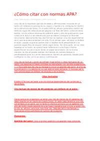 Cita con normativa APA