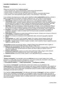 """TEORIA E TECNICHE DELLA COMUNICAZIONE MEDIALE - """"Cultura Convergente"""" (LIMED - I anno)"""