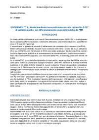 RELAZIONE DI LABORATORIO 30L, BIOTECNOLOGIE FARMACOLOGICHE E TOSSICOLOGICHE CON LABORATORIO