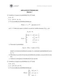Ejercicios de ampliación de la probabilidad