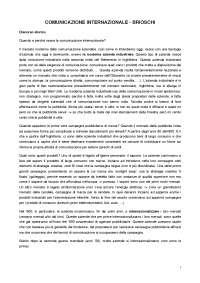 Appunti Prof. Brioschi Unicatt