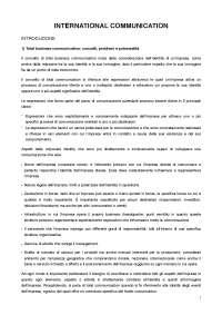 """Riassunto libro """"International Communication"""", E. T. Brioschi"""