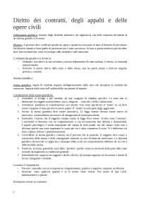 Nozioni fondamentali di diritto dei contratti degli appalti privati, appalti pubblici e delle opere civili per ingegneria