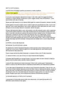 DIRITTO COSTITUZIONALE APPUNTI E LIBRO