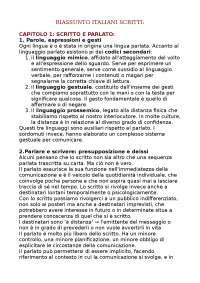 RIASSUNTO LIBRO 'ITALIANI SCRITTI'