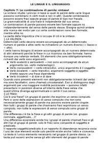 RIASSUNTO LIBRO 'LE LINGUE E IL LINGUAGGIO':