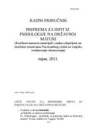 Psihologija- skripte za maturu