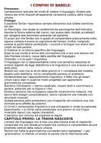 RIASSUNTO CAP.1 'I CONFINI DI BABELE'