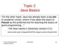 Java Class notes help