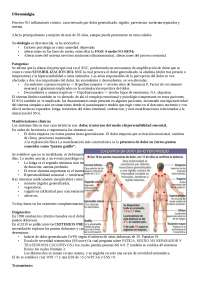 Datos principales de fibromialgia